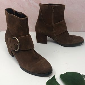 Gabor Brown Chunky Heeled Boots 6 D1